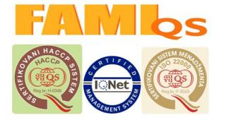 We are ISO 22000 and FAMI-QS CERTIFIED!